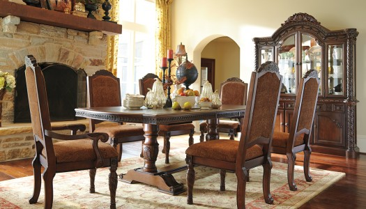 Fall Into Style With 5 Quick U0026 Easy Fall Decorating Ideas. Marsilona  Dining Love The Dark And Light Wood Together Ashley Furniture Homestore In