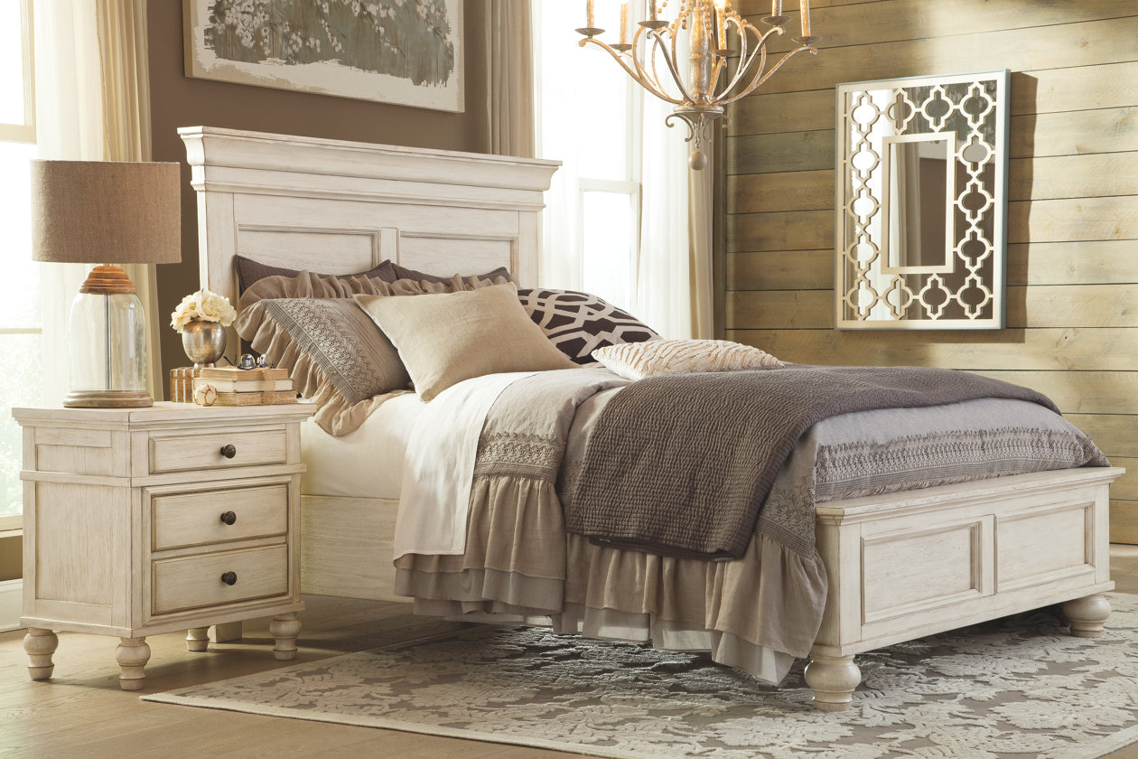 3 steps to creating a warm rustic bedroom ashley homestore - Ashley furniture bedroom packages ...