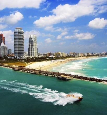 Aerial view of South Miami Beach