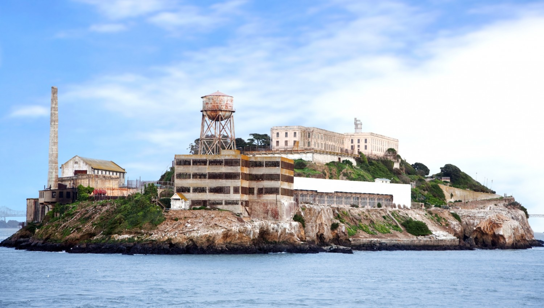Alcatraz island famous prison in San Francisco