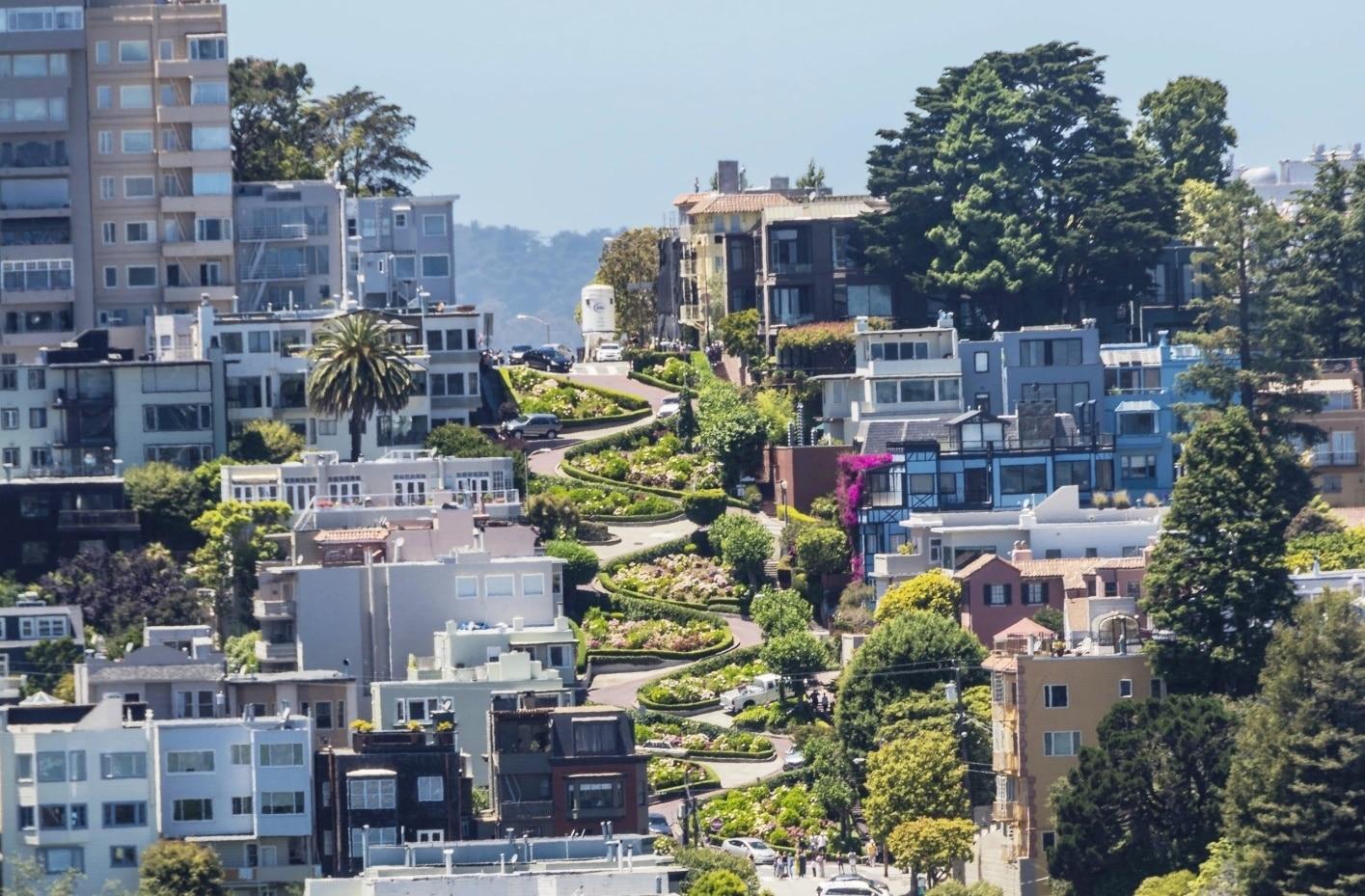 The zigzag street in San Francisco