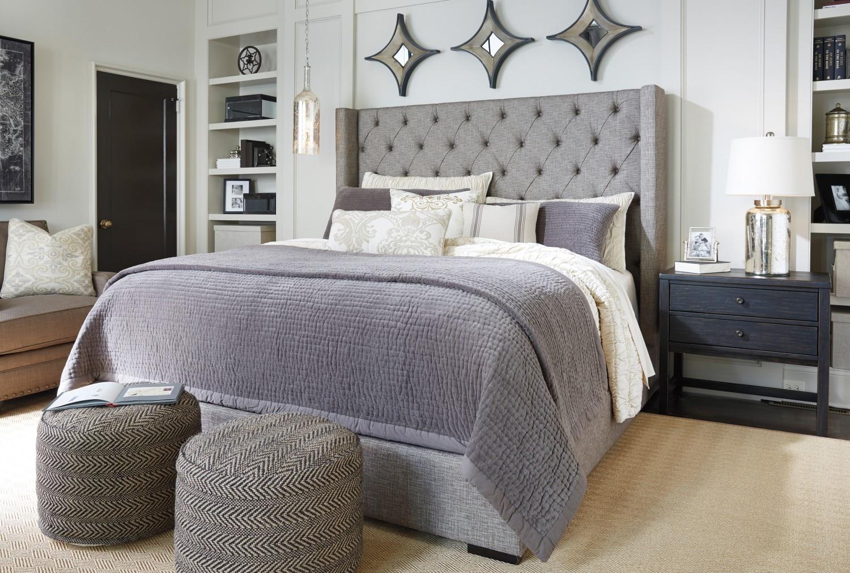 Poufs Benches Ottomans Ashley Furniture - Ashley furniture porter bedroom suite