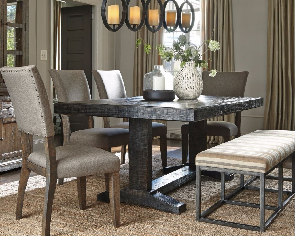 The new urban farmhouse chic ashley furniture homestore for Farmhouse style dining set