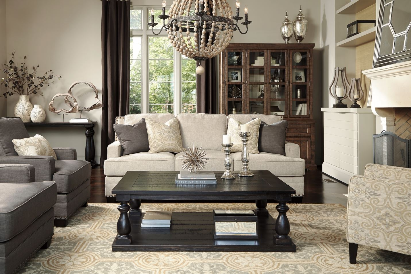 The New Urban Farmhouse Chic Ashley Furniture HomeStore - Ashley furniture living room table set