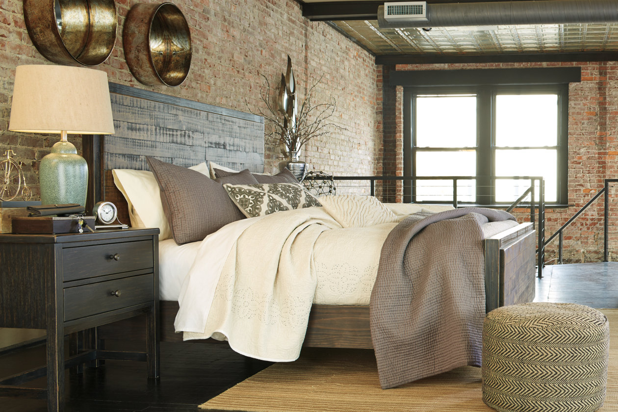 Ashley rustic bedroom furniture - Distressed Out Why Distressed Furnishings Are So In Ashley Furniture Homestore Blog