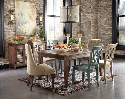 4 tips for hanging chandeliers pendants ashley furniture chandeliers should hang about 30 inches to 32 inches above the surface of your dining room table for each additional foot of ceiling height aloadofball Image collections
