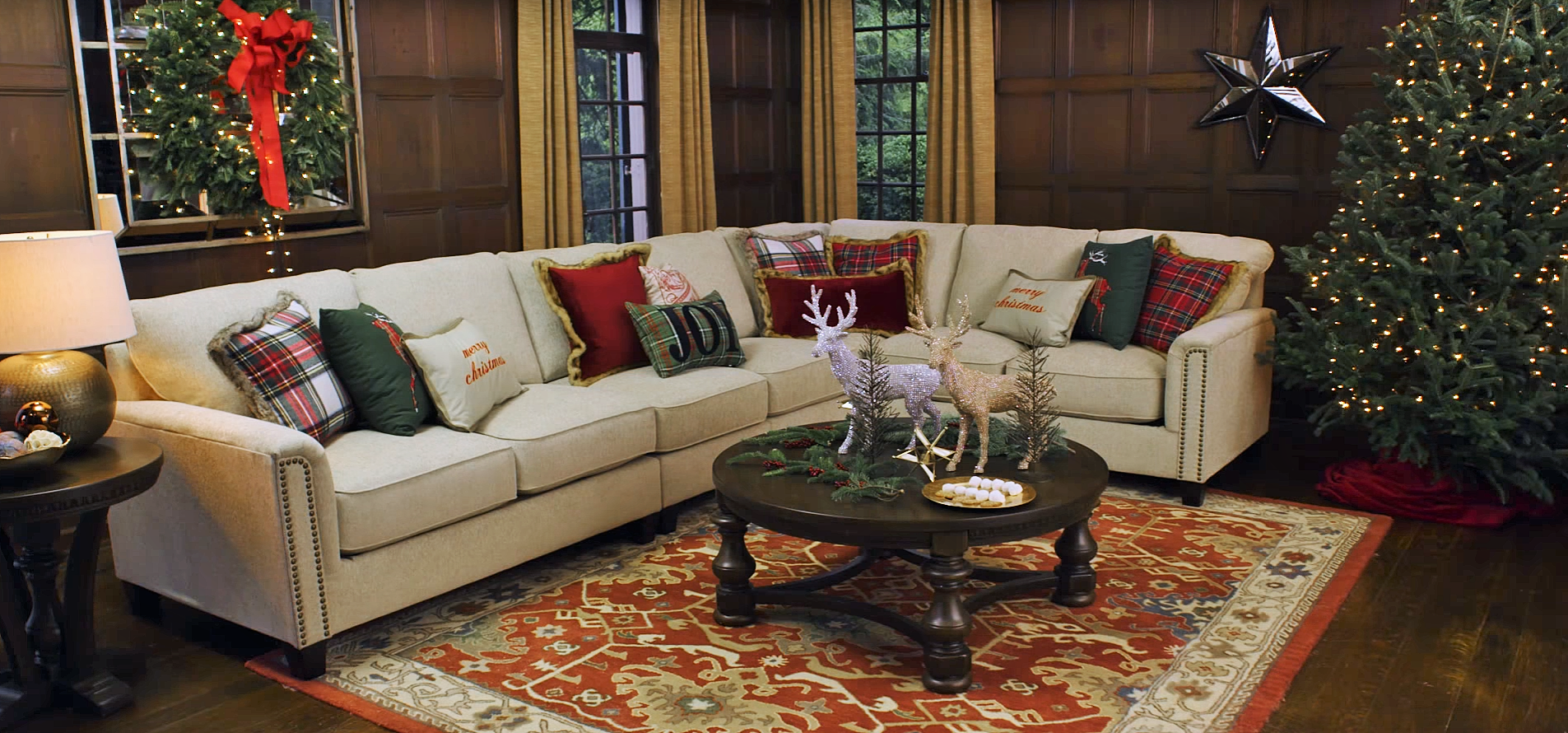 Holiday living room refresh ashley furniture homestore blog Home life furniture bangalore