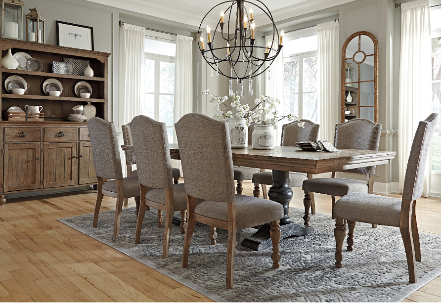 Attrayant Tanshire Dining Is One Of The Most Popular Vintage Casual Styles Because Of  Its Warm Upholstery And Stylish Nail Head Trim.