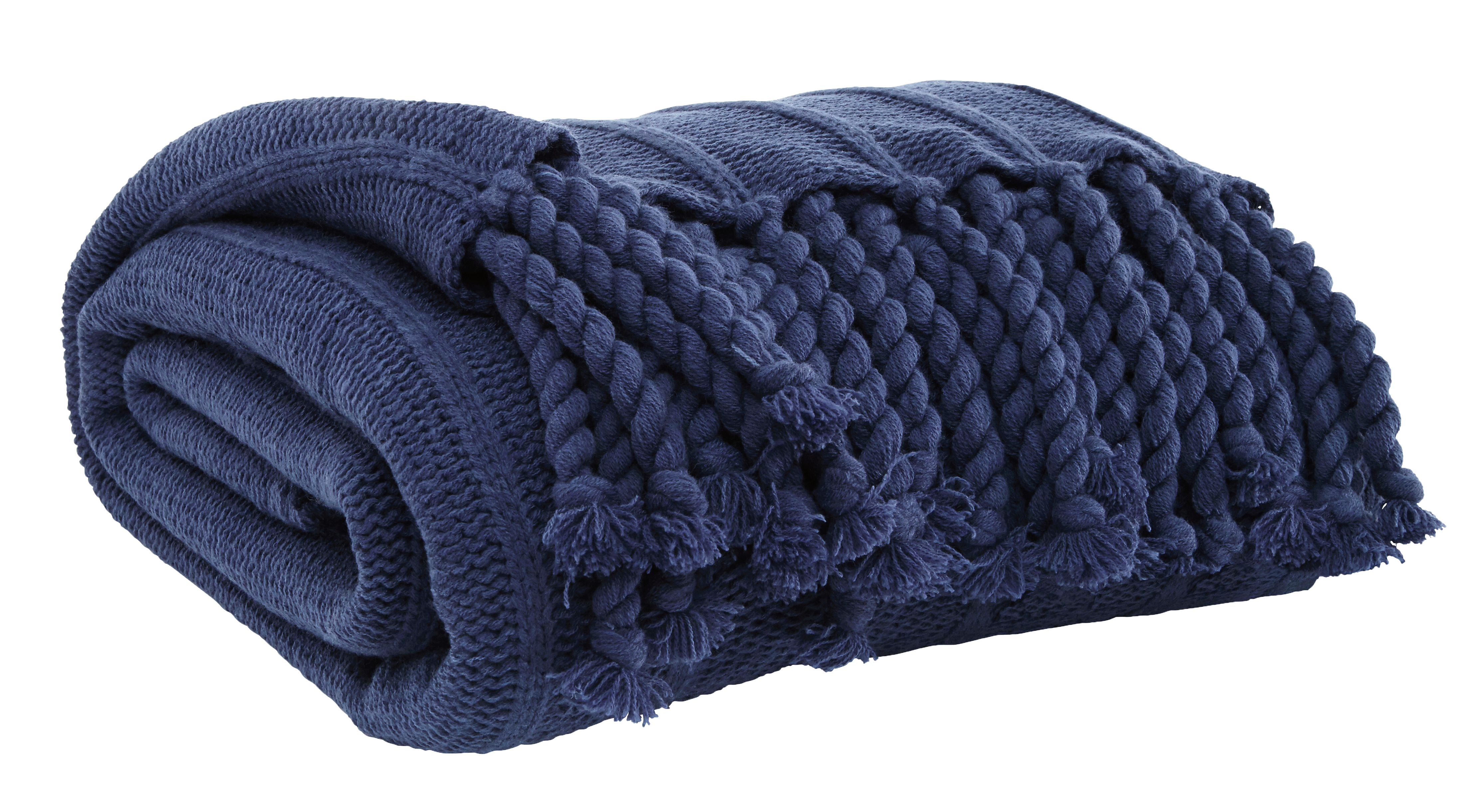 Navy Blue throw blanket