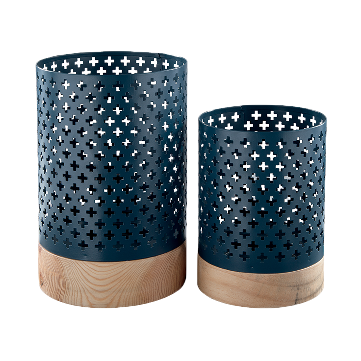 Navy Blue Candle holders