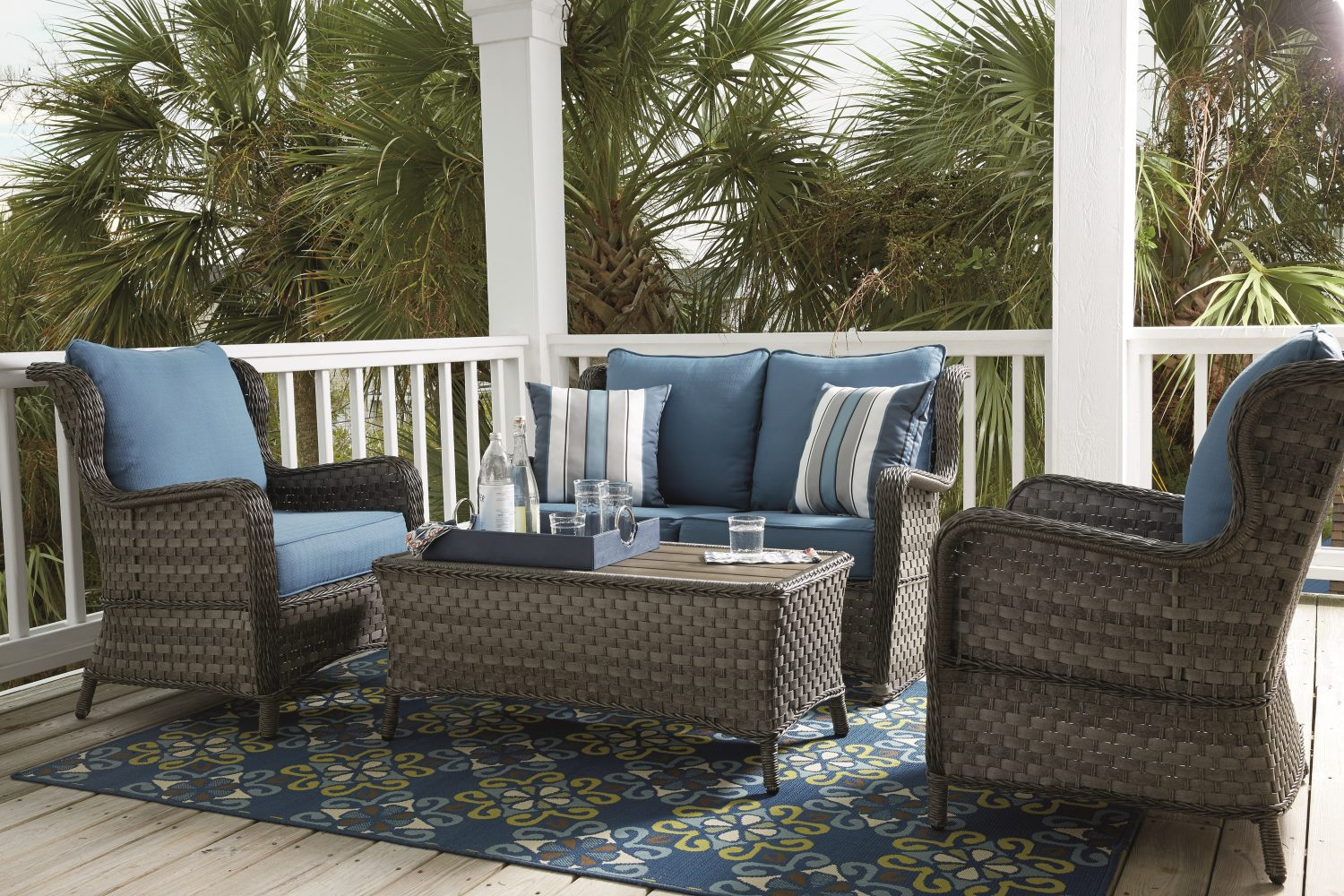 Enliven Outdoor Spaces With Rugs And Pillows Ashley