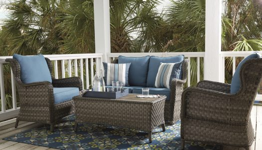 Enliven Outdoor Spaces with Rugs and Pillows