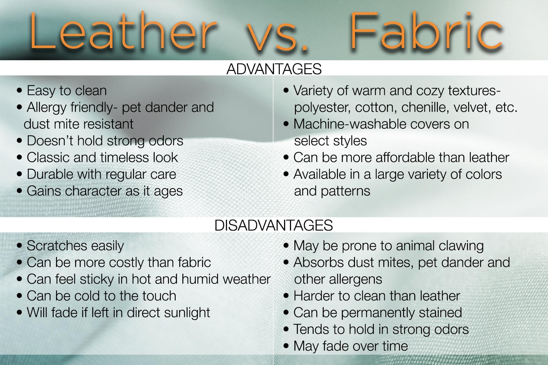 Leather vs. Fabric