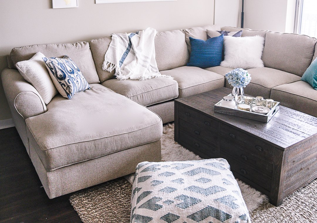 Jenna Colgrove's living room furnished with Ashley Furniture.
