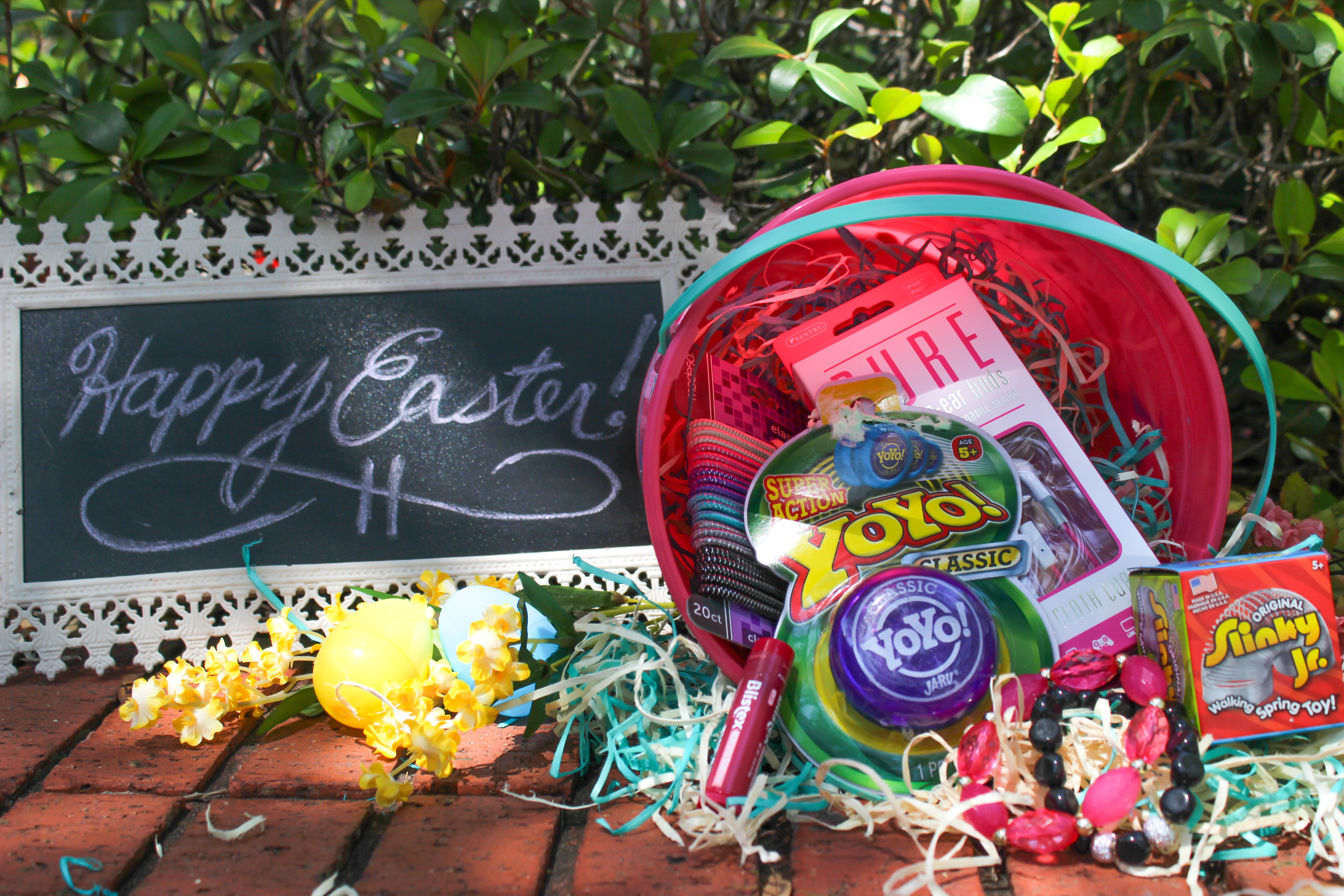 Not your ordinary easter basket ideas xo ashley with this assortment of goodies budget conscious is anything but boring a clever conglomeration of thrifty treasures turns ordinary baskets into something negle Choice Image