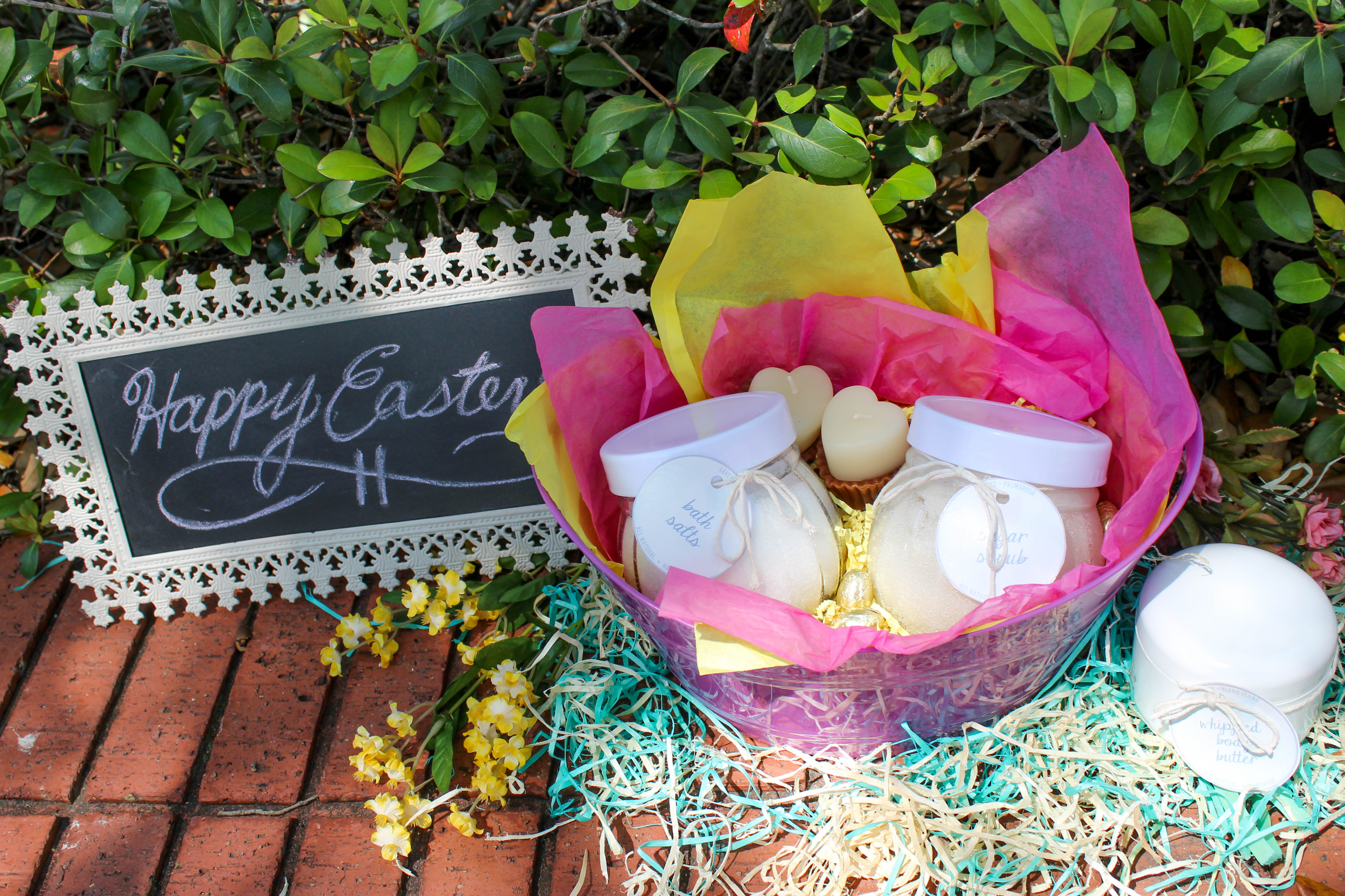 Not your ordinary easter basket ideas xo ashley who says affordable cant be adorable especially when its homemade line a pretty basket with colorful tissue paper and fill it with heavenly scented negle Gallery