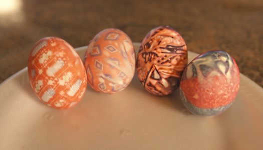 DIY Silk Tie Easter Eggs
