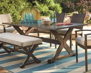 Moresdale rectangular outdoor dining table