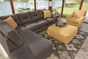 High quality, class, and comfort the Gray Kirwin Nuvella series will indulge you in simple elegance and vibrant contemporary style