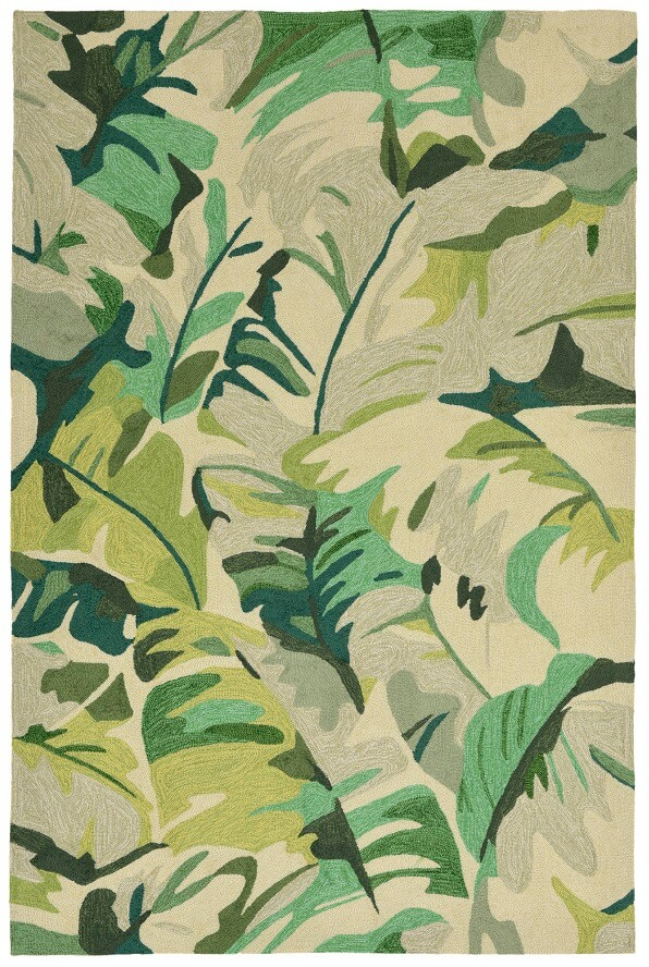 green palm tree large rug