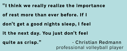 Quote from a famous volleyball player about sleep.