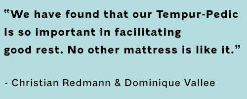 Quote from professional volleyball player and snowboarder about sleeping on a tempur-pedic mattress.