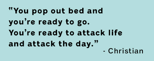 Quote from a professional volleyball player speaking about the importance of sleep for the day.