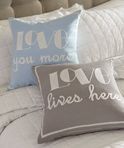 Contemporary fabric pillows for love lifestyle