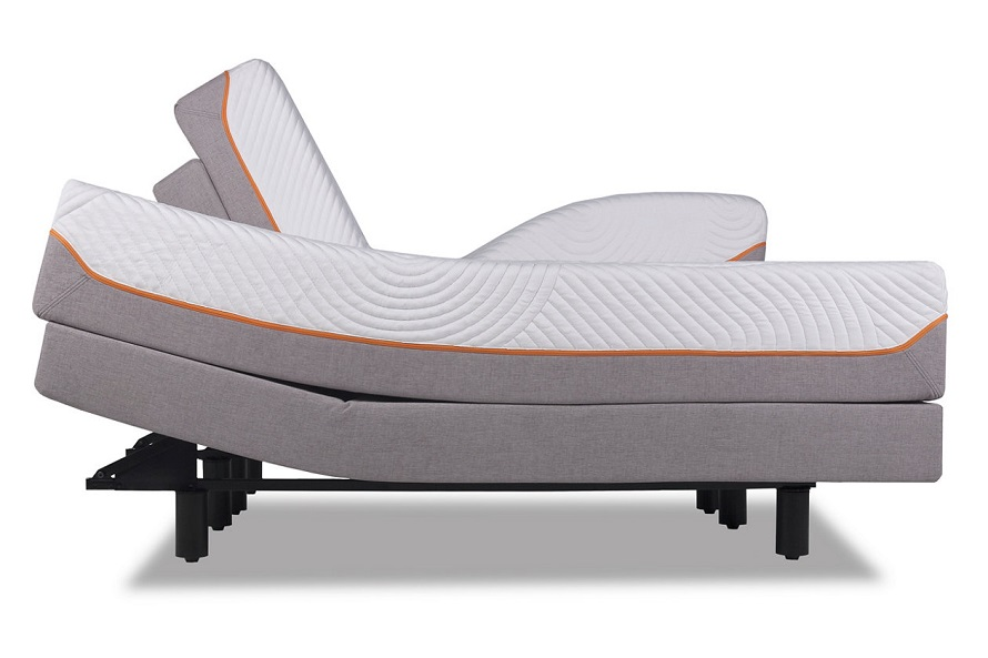 Tempur-pedic contour side view look.