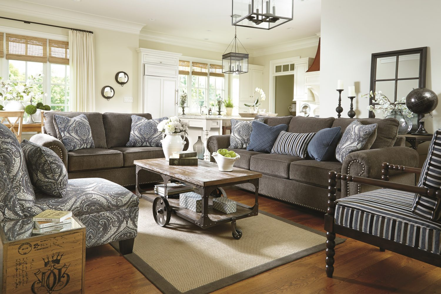 Living room furniture layout guide plan ideas ashley - Large living room furniture placement ...