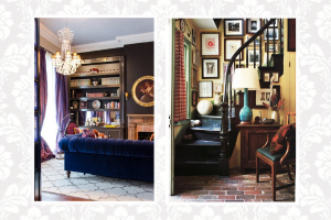 Interiors of several french quarter homes.