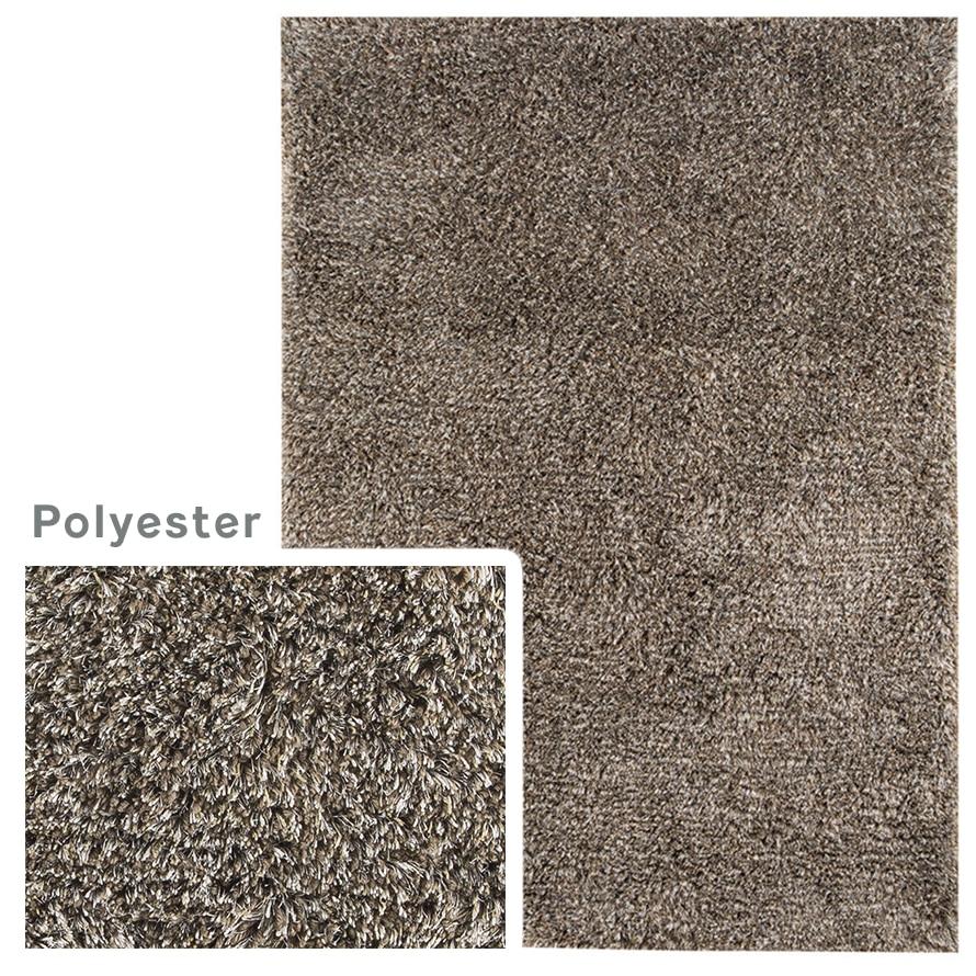 Gray polyester rug