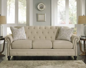 Neutral and elegant french inspired sofa