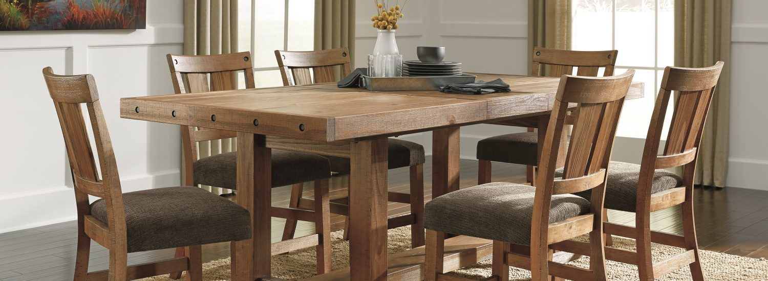 Tamilo dining room table and barstools