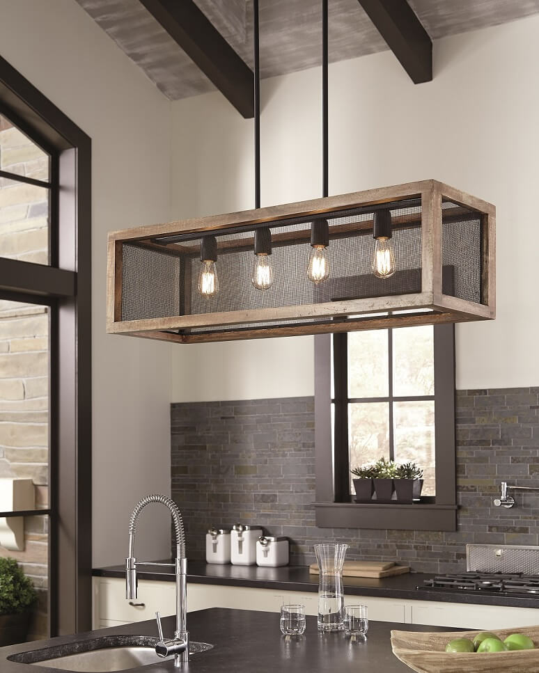 black and brown pendant light