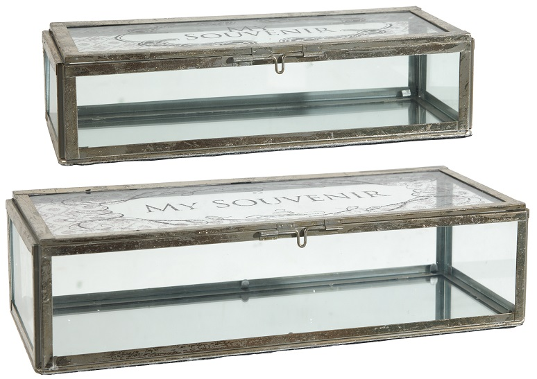 Glass jewelry boxes