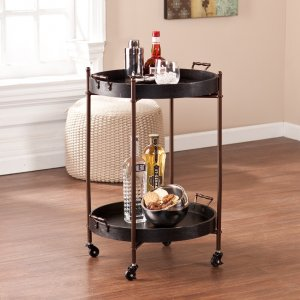 two-tier round butler table