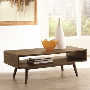 modern retro inspired wood coffee table