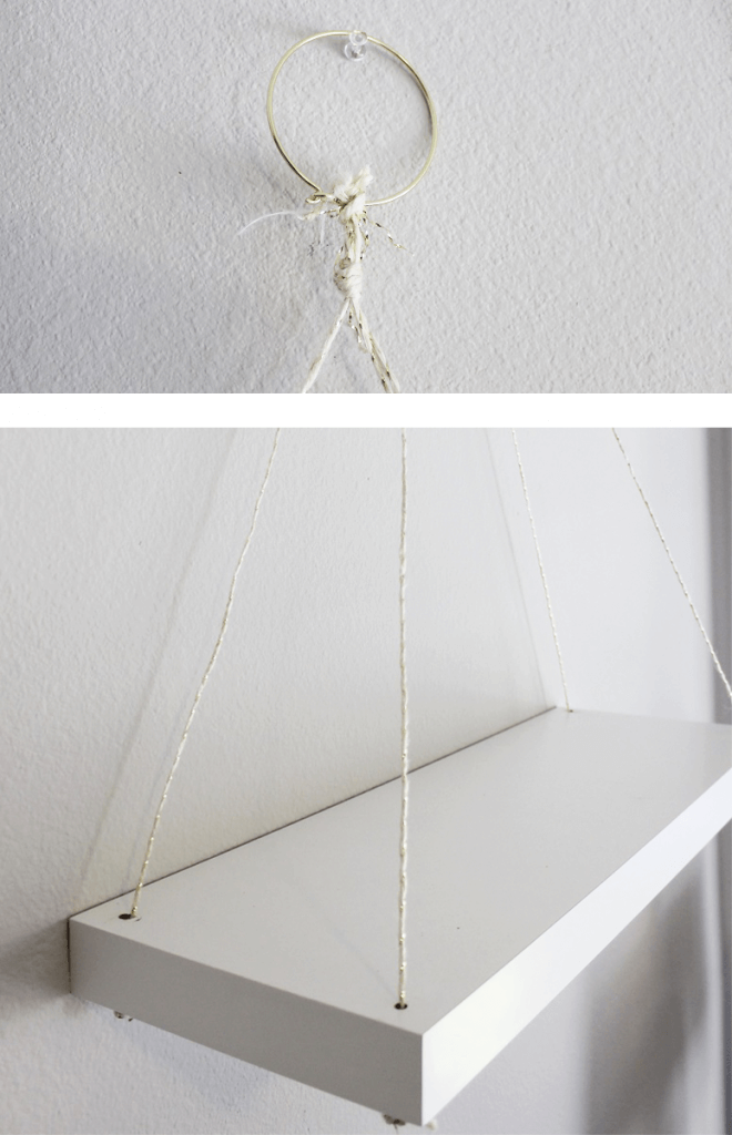 Hanging shelf on a wall