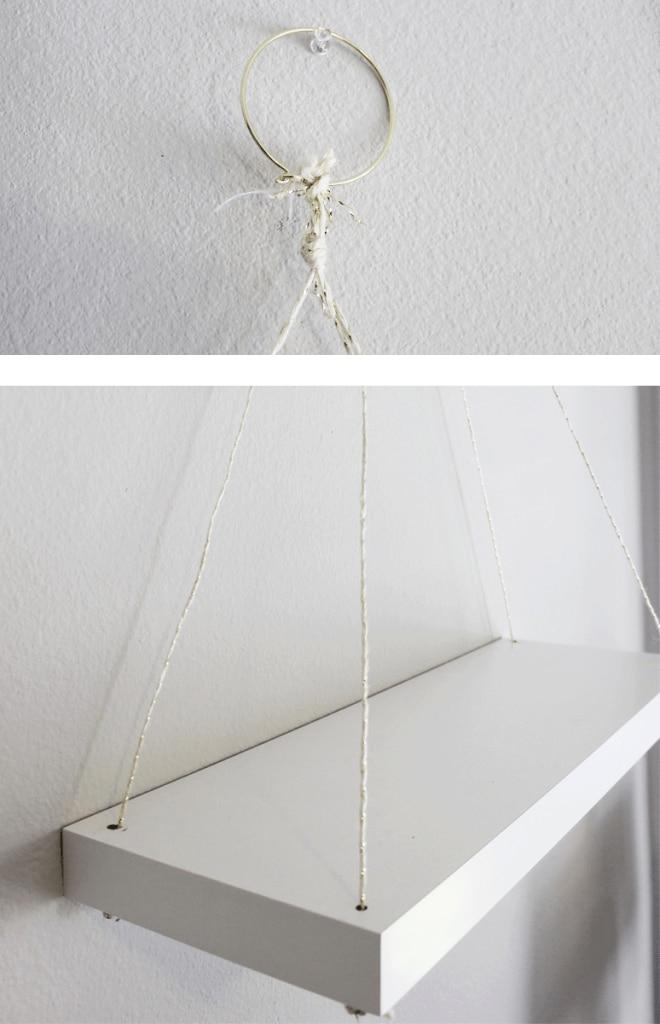 Hanging shelf on a wall