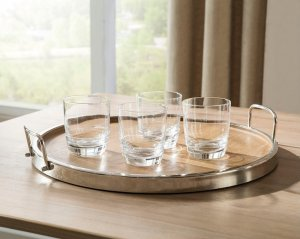 The Octavian Tray, a natural wood serving tray.