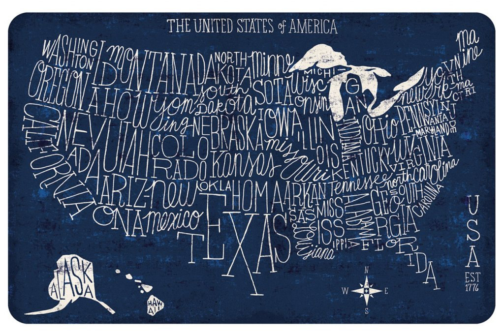 floor mat with map of united states