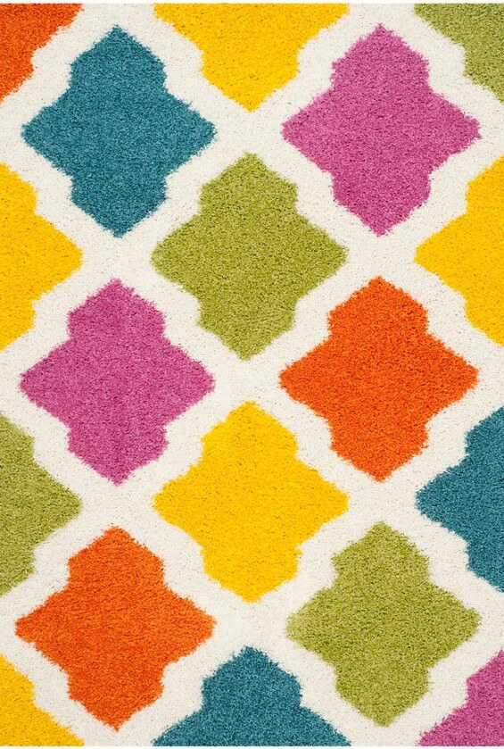multi-colored Accent rug
