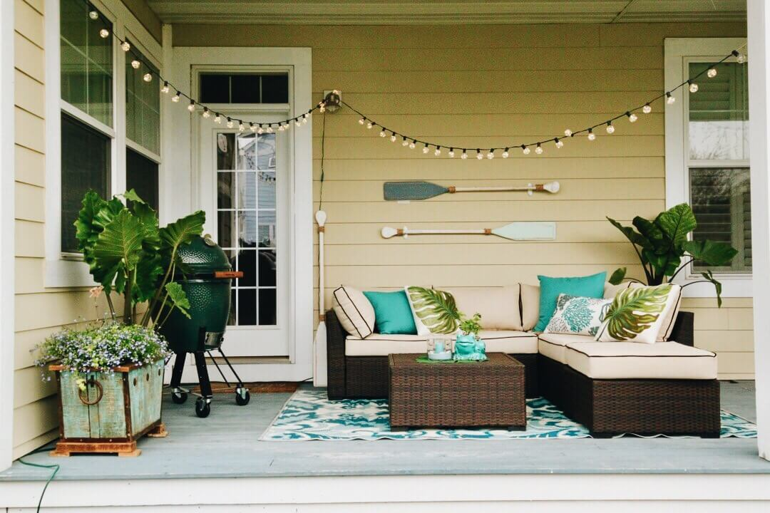 coastal outdoor living space
