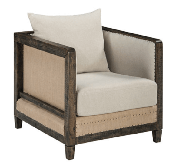 beige linen chair