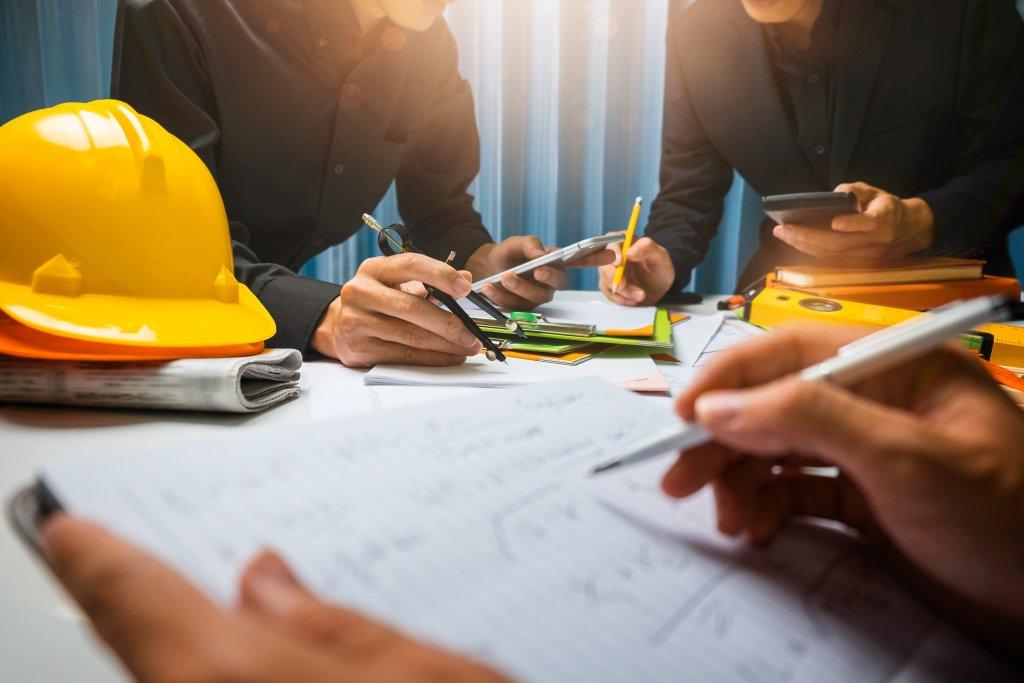 contractors doing work
