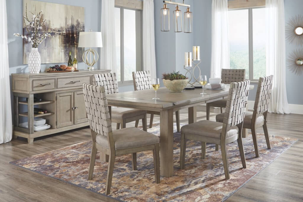 tan dining room set