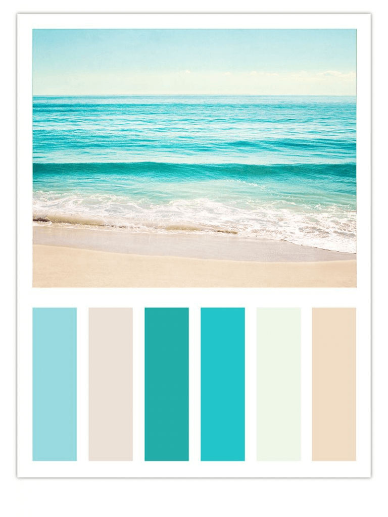 beachy color pallete