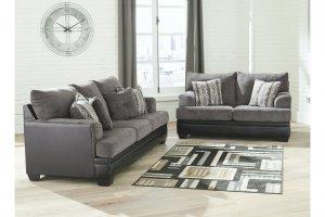 urban loft with gray furniture