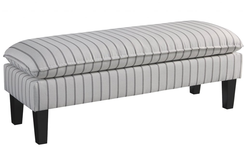 gray and white bench
